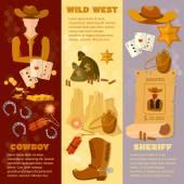 Wild west flat style banner