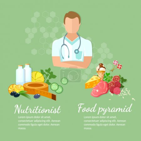 Nutritionist diet and healthy eating