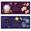 Постер, плакат: Astrology and alchemy banners magic ball fortune telling