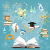 Time to education open book back to school school subjects