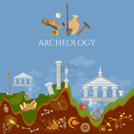 Archeology excavations of ancient treasures