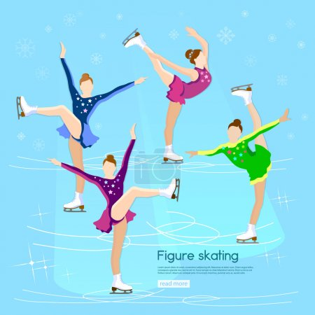 Figure skating dancing on ice winter sports skater skating girl