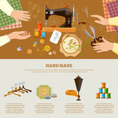 Tailor infographics seamstress fashion designer