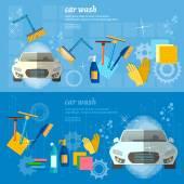 Car wash banner automatic car wash