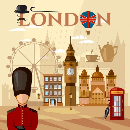 London and United Kingdom attractions symbols landmarks England