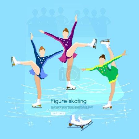Figure skating ice dancing winter sport