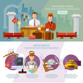 Hotel service infographics hotel staff reservation motel