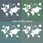 International Airlines icons set