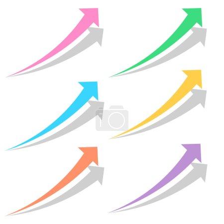 Colored arrows set