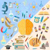 Poster Brain left and right hemisphere