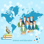 Science and education: students pupils