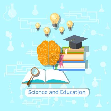 Education concept: science, college, university, b...