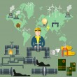 World energy concept, vector illustration...