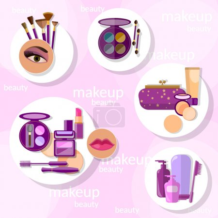 Flat set makeup products