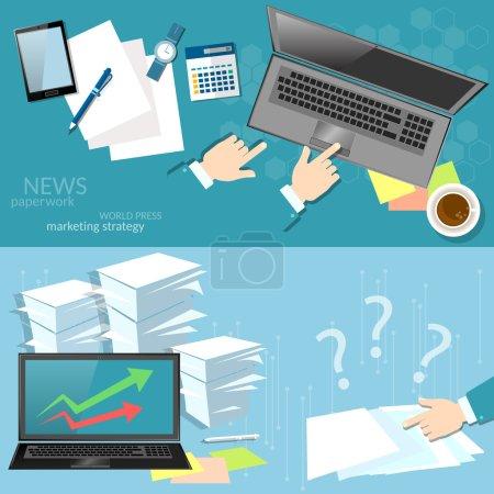 Marketing online working office