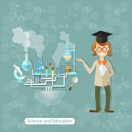 Science and education: professor, teacher
