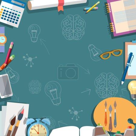Education concept table schoolboy