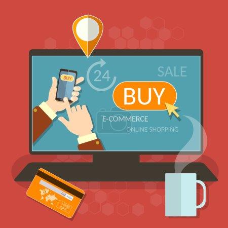 OInline shopping smartphone e-commerce