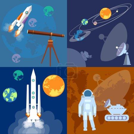Space program astronaut rocket