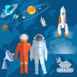 Постер, плакат: Astronauts in space: cosmonaut