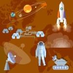 Постер, плакат: Astronaut in space study of Mars