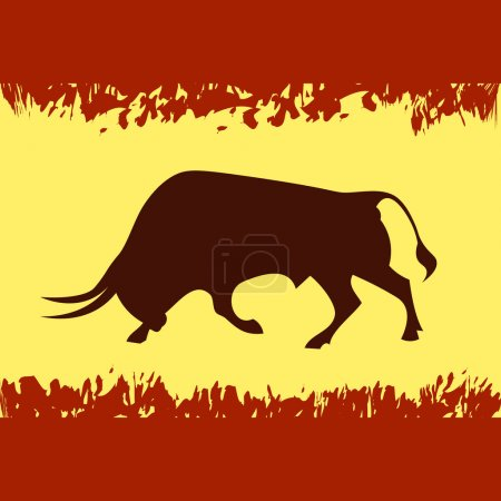 Bull on the flag of Spain