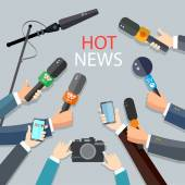 Hot news live report concept