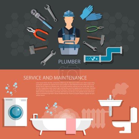 Plumbing tools banners