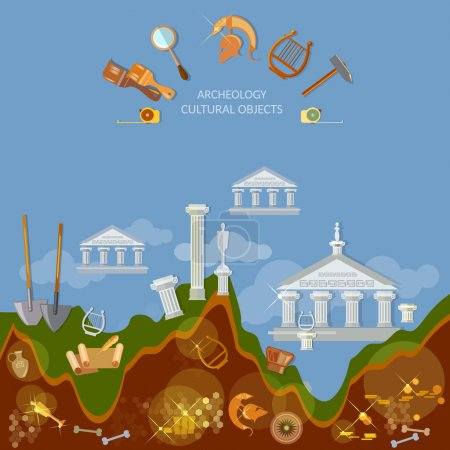 Archeology dig ancient treasures civilization cultural objects