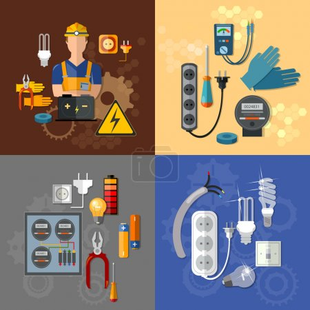 Professional electrical electricity energy electric man