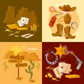 Wild west collection set sheriff cowboy bandit
