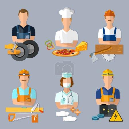 Collection professions set mechanic cook carpenter