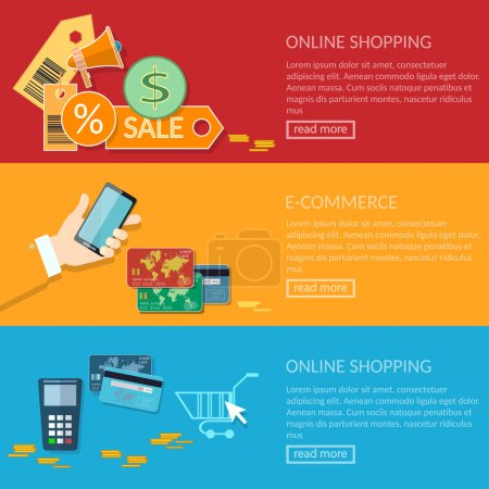 Online shopping banners e-commerce transactions processing