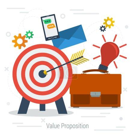 Vector value proposition concept