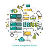 DBMS - line art concept
