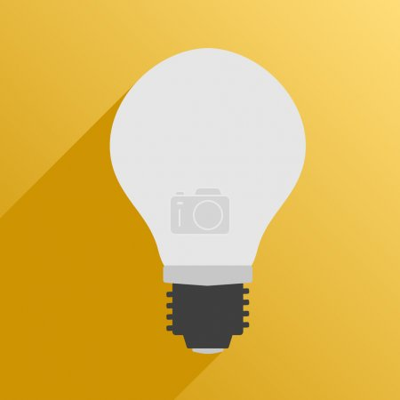 Illustration for Vector illustration. Flat style. Icon. Usual lamps for phytolight for plants - Royalty Free Image