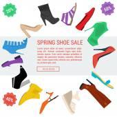 Round banner woman shoe sale