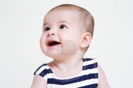 Beautiful smiling cute baby girl portrait