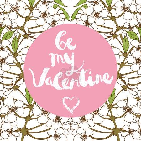 "Valentines day greeting card. Handwritten text: ""Be my Valentine"""