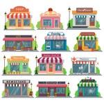Different Set of vector flat design restaurants an...