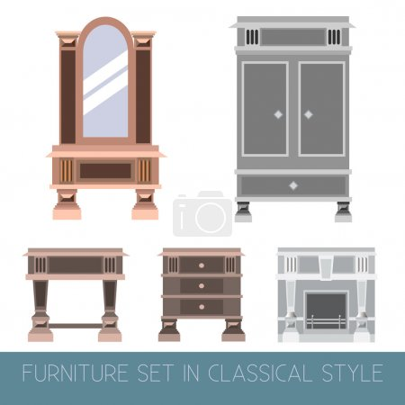 Vector collection of classical furniture.