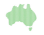Modern Australia Logo - Fingerprints Wave Australia Map