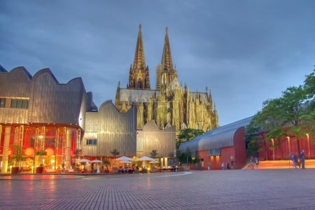 Cologne Cathedral in the evening light, Germany