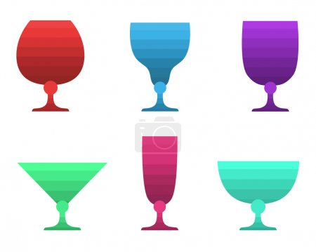 Set of multicolored goblet