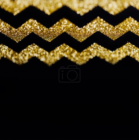 Zig zag gold glitter background