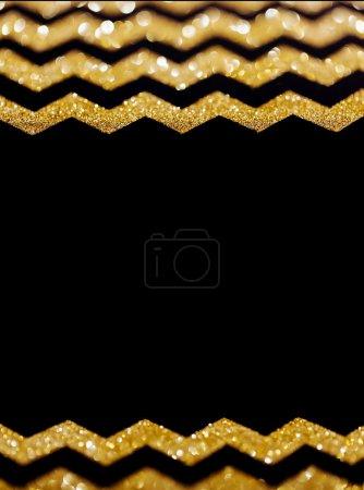 Foto de Chevron brillo oro de fondo con espacio para texto - Imagen libre de derechos