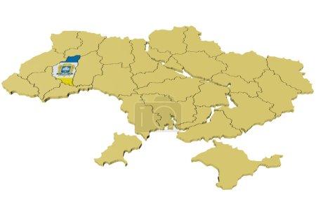 3D model of Ukraine