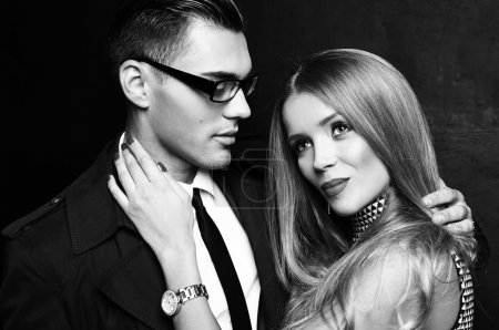 beautiful sensual impassioned couple.