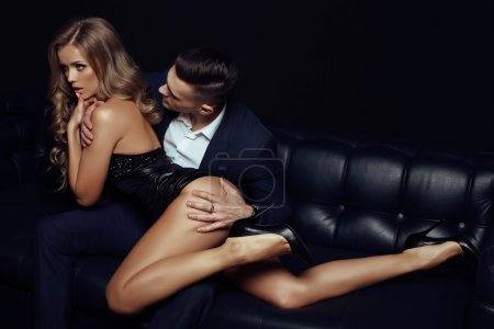 Beautiful sexy couple - love story