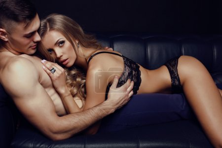 Sexy couple in lingerie. Valentine's day